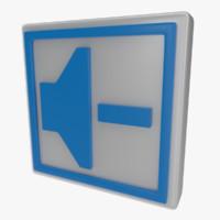 icon speaker obj