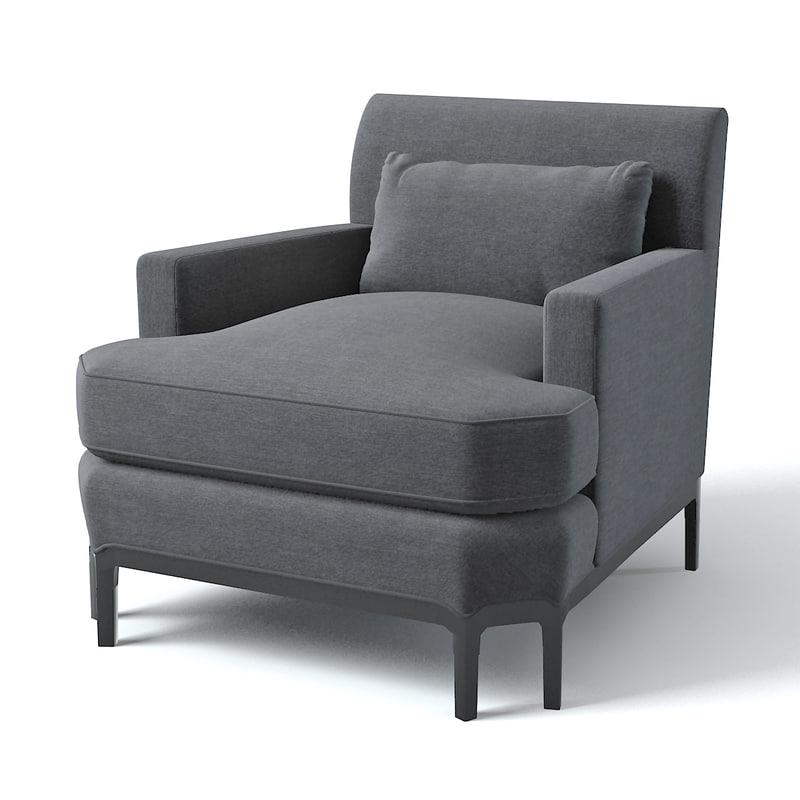3d baker celestite lounge chair