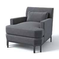 3d baker celestite lounge chair