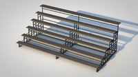 3d gym bleachers model