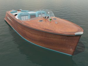 motorboat riviera style 3d model
