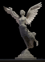 3d angel statue independence d