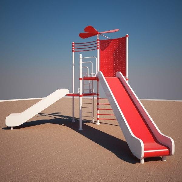 3d playground kids model