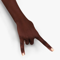 3d female hand african american