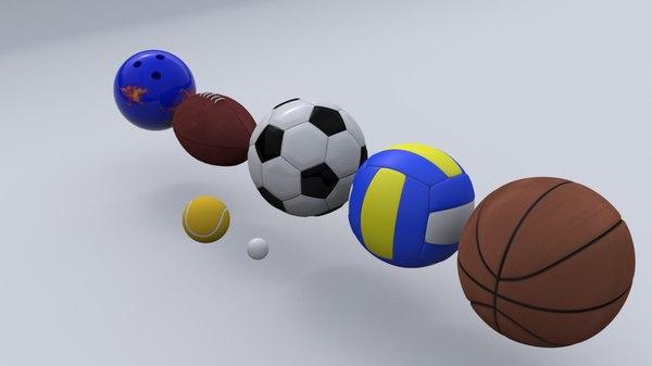 3d sport balls model