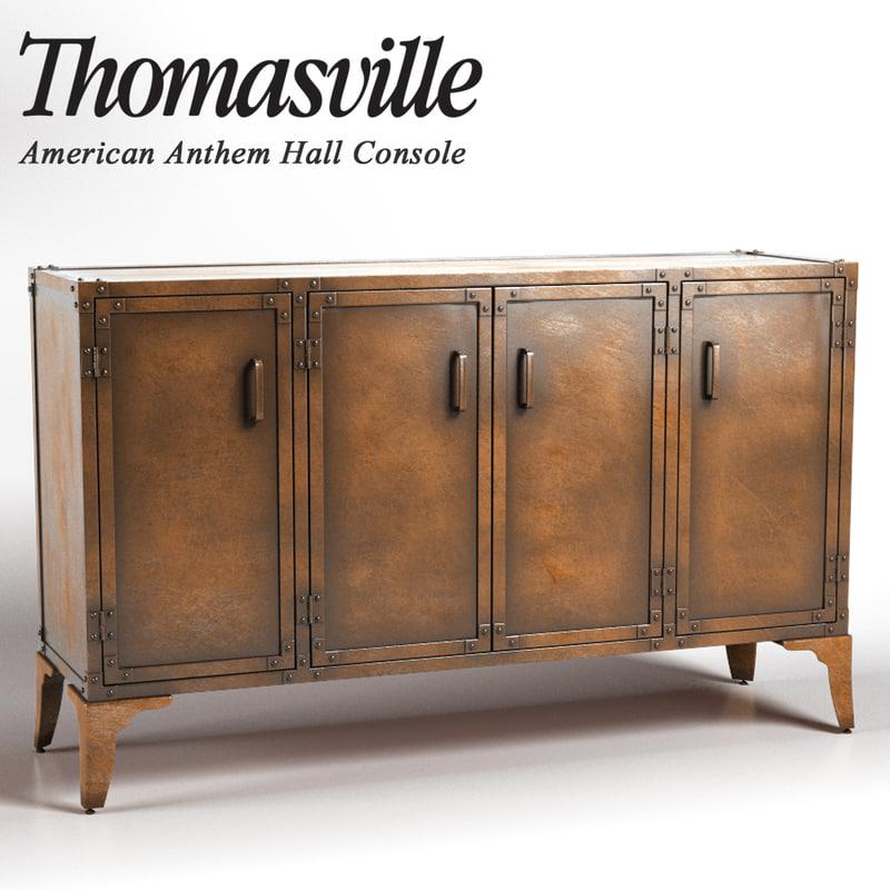 3d thomasville hall console model