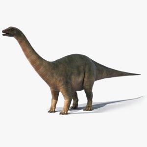 realistic brontosaurus obj