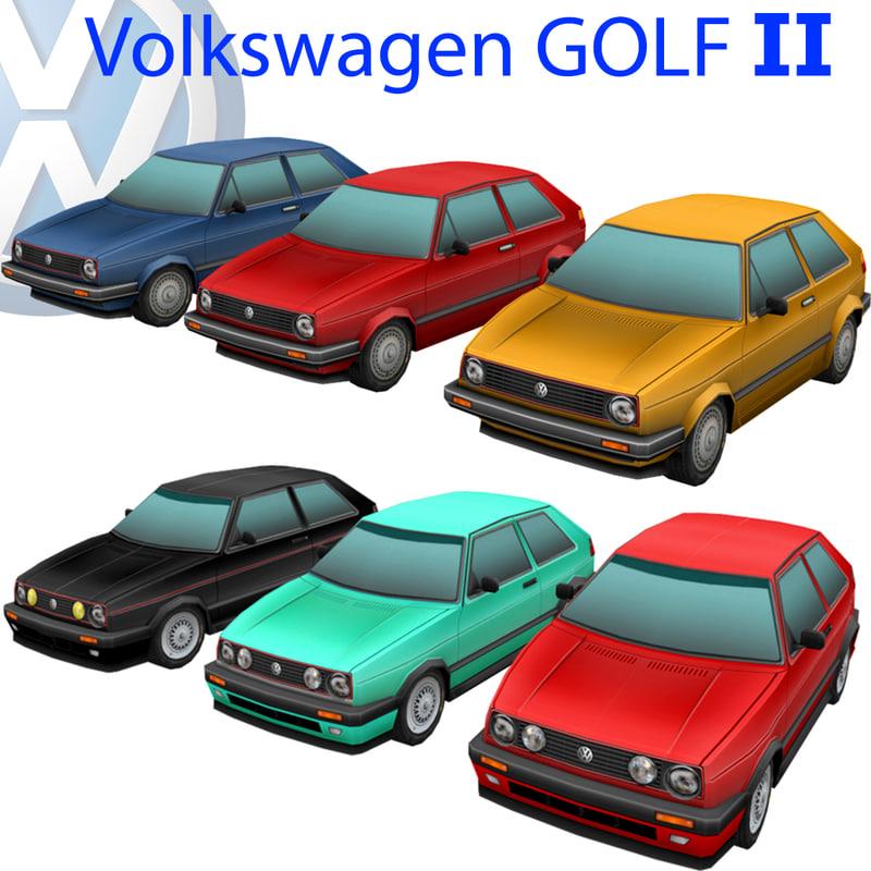 3d volkswagen golf car model