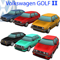 3d volkswagen golf car model