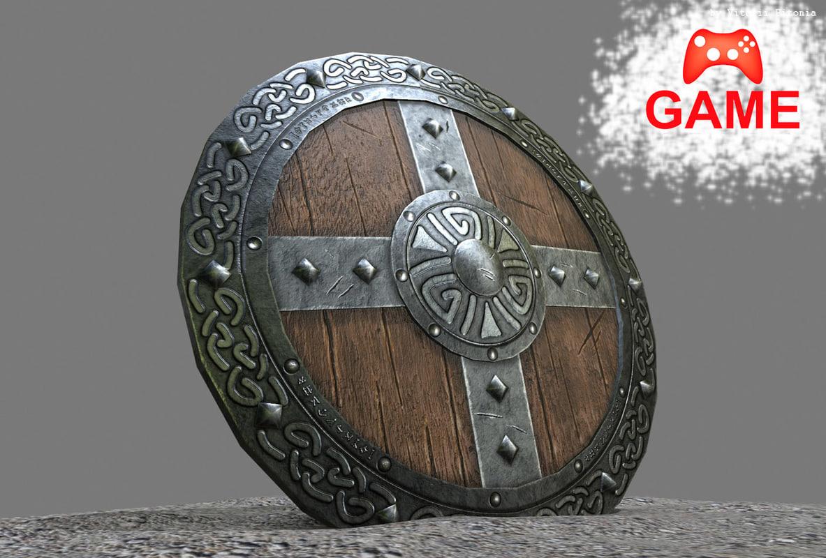 3d viking shield