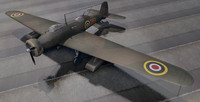 rare vickers wellesley mk-1 3d model