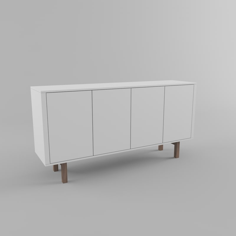 free ikea stockholm sideboard 3d model. Black Bedroom Furniture Sets. Home Design Ideas