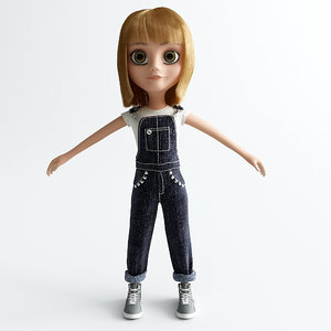 3d model girl cartoon