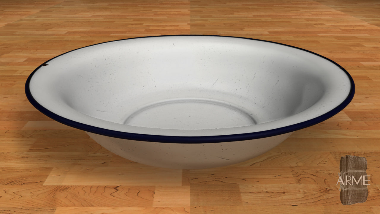 coated bowl thai style 3d model
