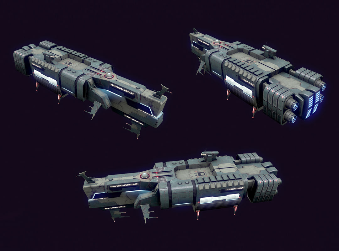 3d model spaces ship transport