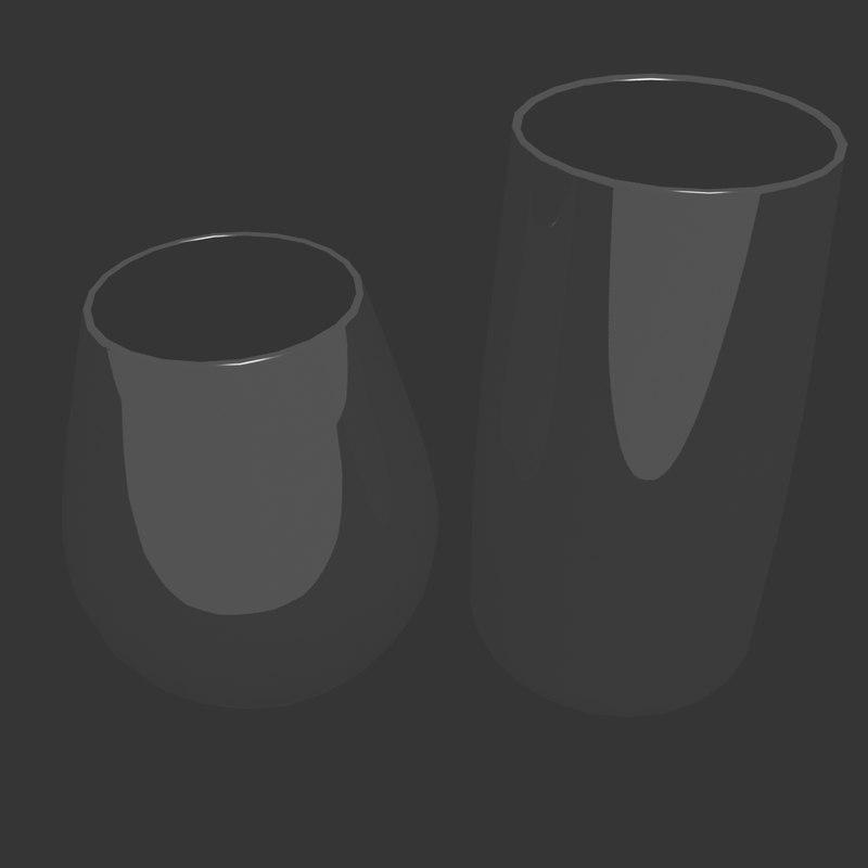 3d model glasses liquid