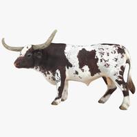 longhorn bull 3d model
