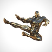 sculpture black gold 3d model