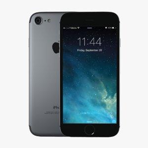 3d model apple iphone 7
