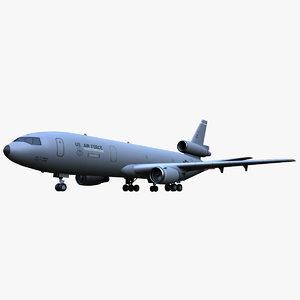 kc-10 extender aircraft 3d max