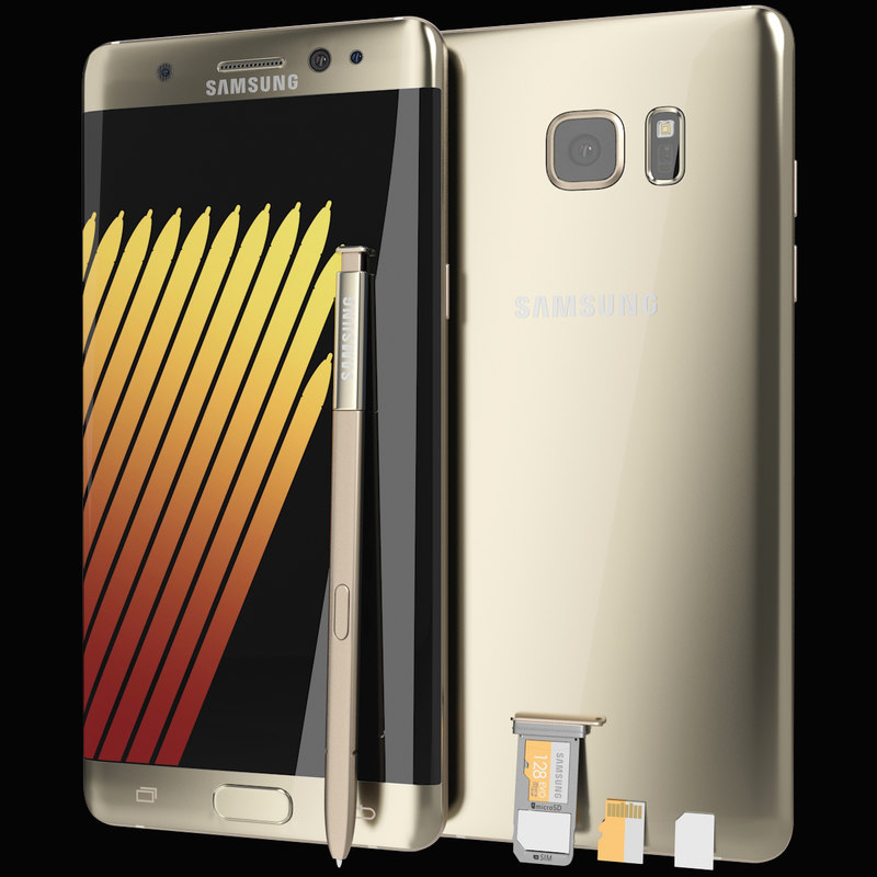 realistic samsung galaxy note 3d model
