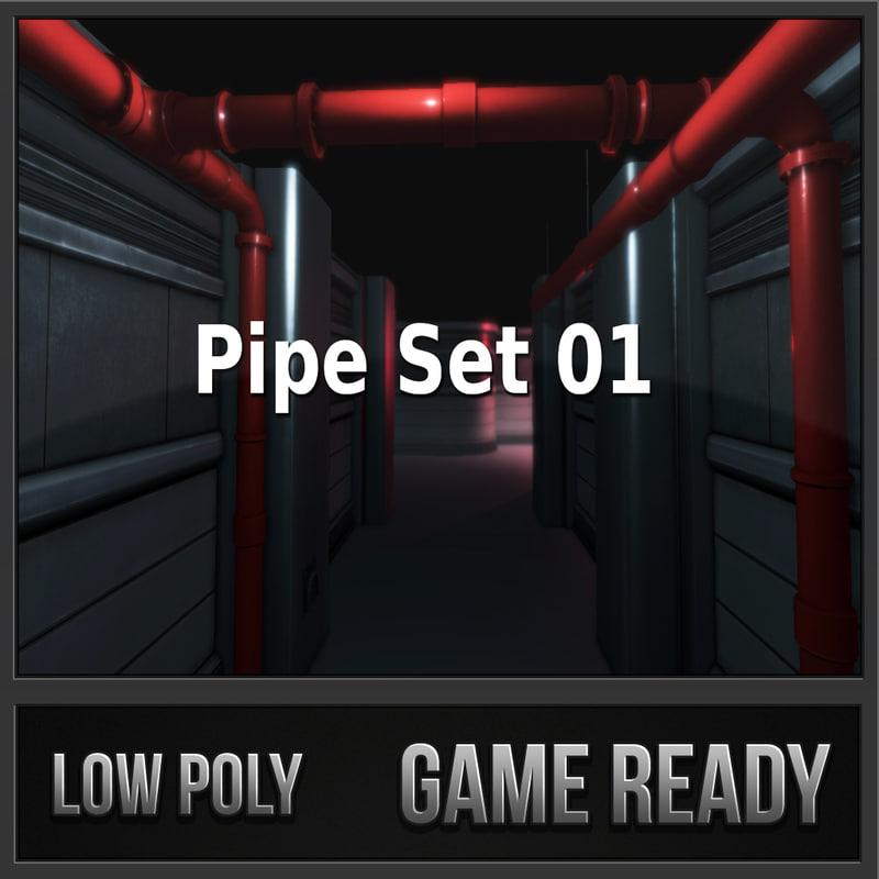 3d pipe set 01