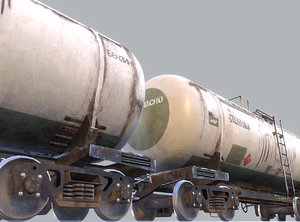 railway oil tank 3d model