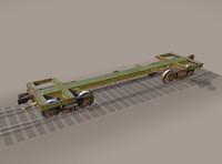 railway car frame 3d obj