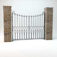 old worn gate 3d dxf