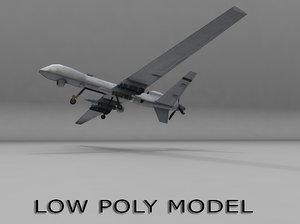 3d mq-9 drone