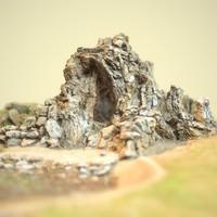 cave landscape 3d obj