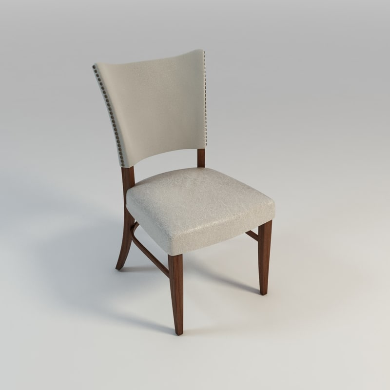 3d model upholstered dining chair