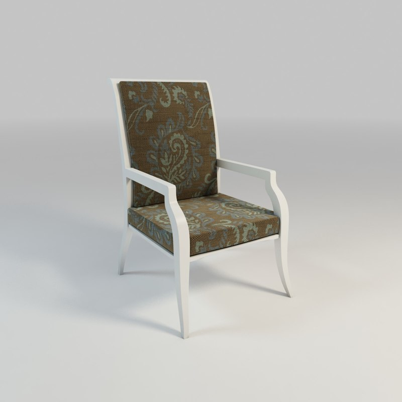 wood arm chair 3d max