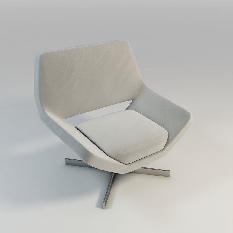 upholstered chair 3d model