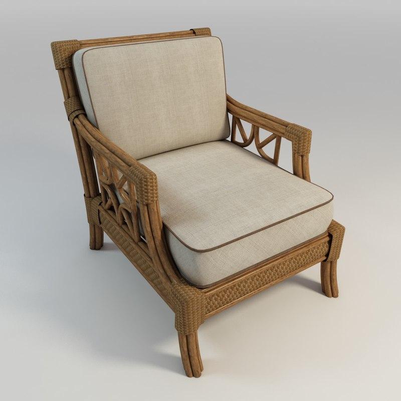 coastal chair 3d model