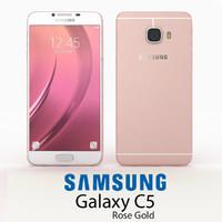 samsung galaxy c5 gold 3d 3ds