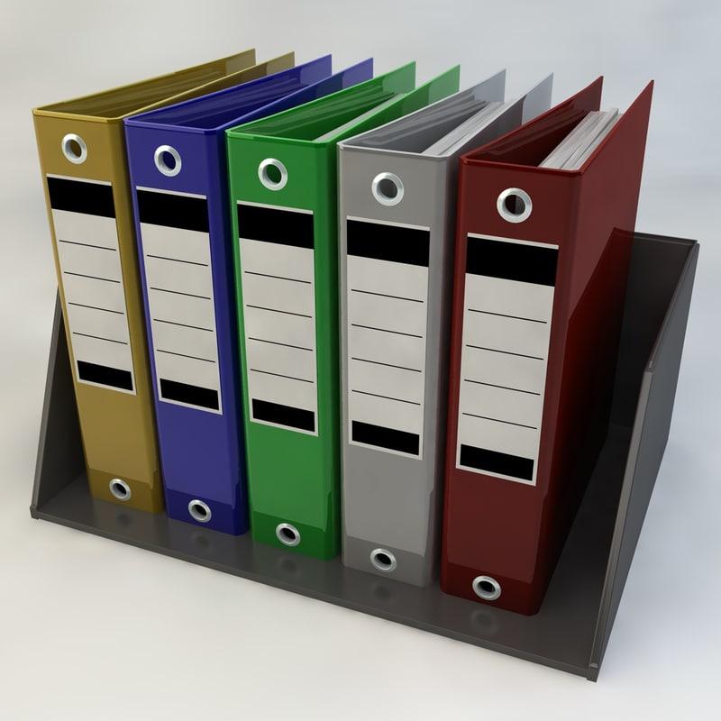 3d office folder model