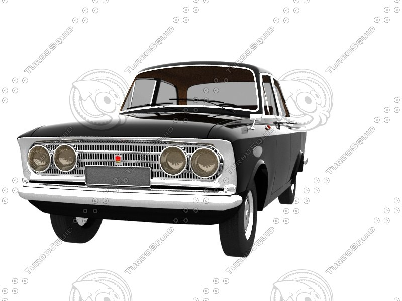 ussr car moskwich 408 3d max