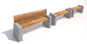 3d model outdoor benches
