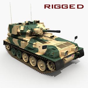 fv101 battle tank rig 3d max