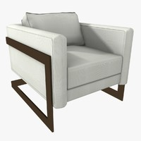 3d modern arm chair model