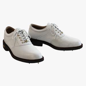 3d ecco gtx golf shoes model