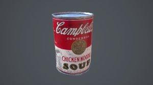 campbells 3d obj