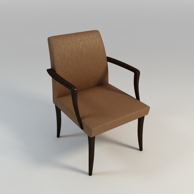 3d leather arm chair