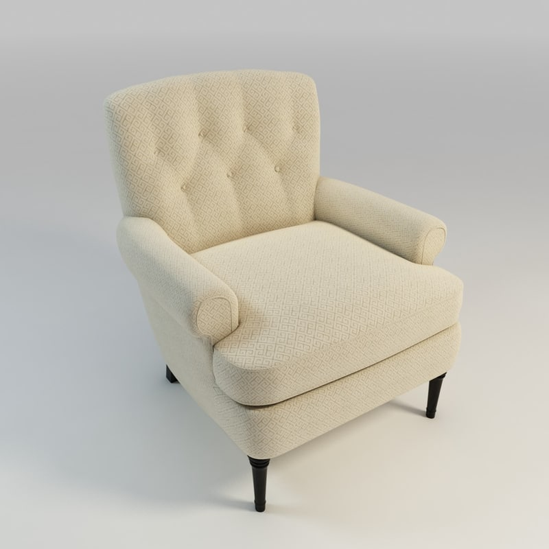 upholstered christopher chair 3d max