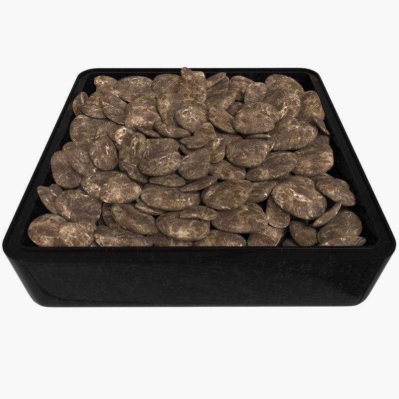 pebbles rock tray 3d max