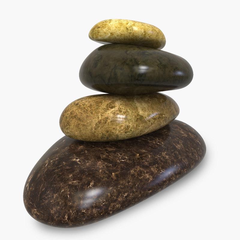 marble pebbles rock 3ds