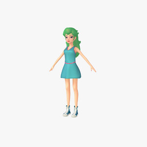3d cartoon female model