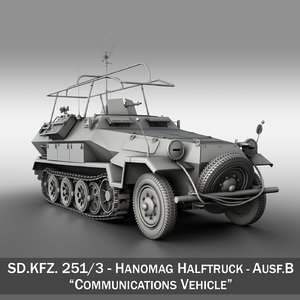 3d model of sd kfz 251 3