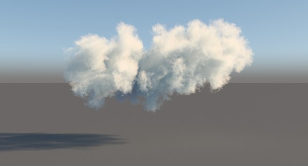 3d model volumetric cloud
